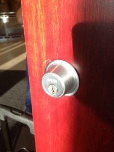 locksmith in Garden City - changing a lock