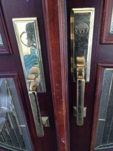 Front Door Handleset and mortis lock